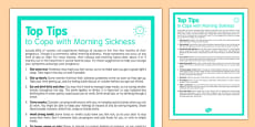 Top Tips to Cope with Morning Sickness