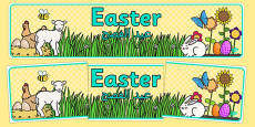 Easter Display Banner Arabic Translation