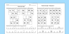 Missing Numbers Activity Sheet Romanian