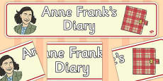 'Anne Frank's Diary' Display Banner
