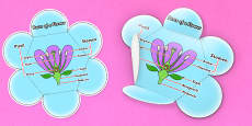 Parts of a Flower Foldable Visual Aid Reference Leaflet