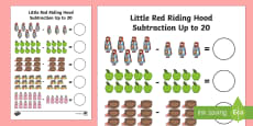 Little Red Riding Hood Subtraction Up to 20 Activity Sheet