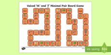 Voiced \th\ and \f\ Minimal Pair Board Game