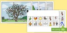 * NEW * Die Jahreszeiten Arbeitsblatt: Erstes Schneiden und Kleben