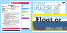 Floating and Sinking Experiment EYFS Adult Input Plan and Resource Pack