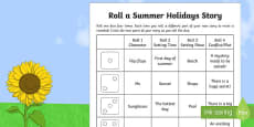 Roll a Summer Holidays Story Storyboard Template
