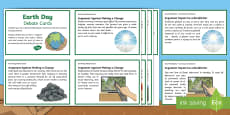 Earth Day Debate Cards English/Romanian