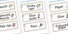 Meerkat Themed Editable Creative Area Resource Labels