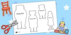 Goldilocks and the Three Bears Shadow Puppets