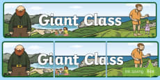 * NEW * Giant Class Display Banner
