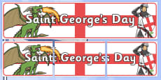 St George's Day Display Banner