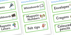 Pear Themed Editable Writing Area Resource Labels