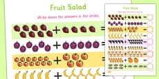 Fruit Salad Up to 20 Addition Sheet