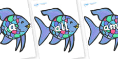 Foundation Stage 2 Keywords on Rainbow Fish to Support Teaching on The Rainbow Fish