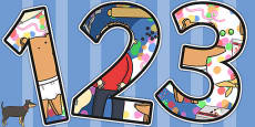 Themed Display Numbers to Support Teaching on Biscuit Bear