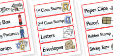 Jolly Post Office Role Play Labels to Support Teaching on The Jolly Postman