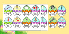 Phase 5 CVC Words Easter Egg Matching Activity