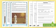 * NEW * Medusa - The Quest of Perseus Differentiated Differentiated Reading Comprehension Activity