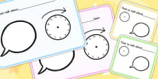 We Can Talk About Topic Later And Time To Talk About Topic Visual Support Cards