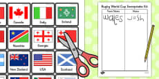 Rugby World Cup Sweepstake Kit