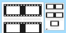 Film Strip Storyboard Template