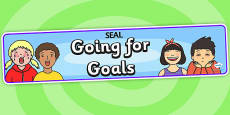 Going For Goals Display Banner (SEAL)