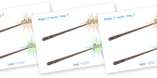 Magic E Words On Wands Long I