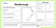 All About Marlborough Writing Frame