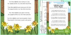 Daffodils Finger Actions Rhyme