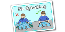 No Splashing at the Sink Poster
