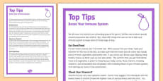 Top Tips to Boost Your Immune System Poster