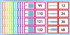 Array Multiplication Cards 1-12