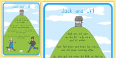 Australia - Jack and Jill Nursery Rhyme Poster
