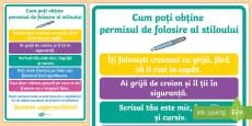 Cum să ți câștigi permisul pentru stilou Planșă