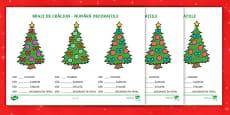 Brazi de Crăciun - Fișă de numerație