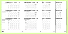 Lily Pad Counting Activity Sheets Pack