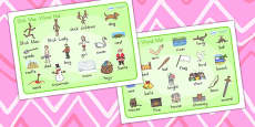 Australia Stick Man Word Mat Images