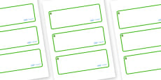 Lime Tree Themed Editable Drawer-Peg-Name Labels (Blank)
