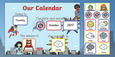 Superhero Display Calendar