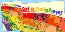 Eat a Rainbow Large Display Poster