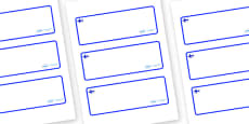 Finland Themed Editable Drawer-Peg-Name Labels (Blank)