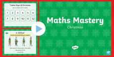 Year 1 Christmas Maths Mastery PowerPoint