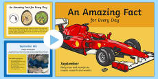 An Amazing Fact a Day September PowerPoint