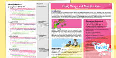 PlanIt - Science Year 4 - Living Things and Their Habitats Planning Overview
