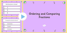 Ordering and Comparing Fractions PowerPoint Quiz