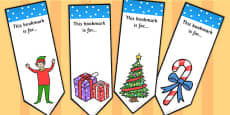 Elf Themed Bookmarks
