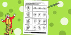 Circus Themed Capital Letter Matching Activity Sheet