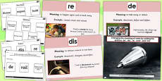 Adding Prefixes de dis re over and mis SPaG Lesson Teaching Pack