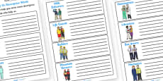 People Who Help Us Descriptive Words Activity Sheets