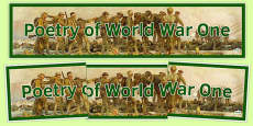 Poetry of World War One Display Banner